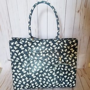 Rebecca Minkoff Black & White Floral Tote Purse